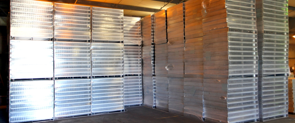 Plastic pallets for food processing